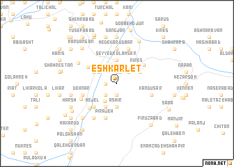 map of Eshkārlet