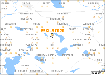 map of Eskilstorp