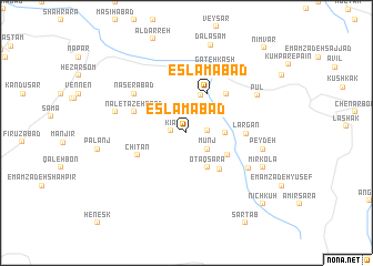 map of Eslāmābād
