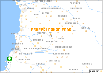 map of Esmeralda Hacienda