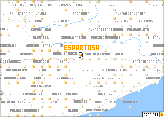 map of Espartosa