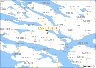 map of Espetveit