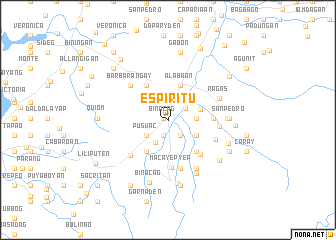 map of Espiritu