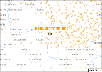 map of Esquimay Arriba