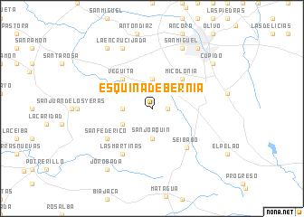 map of Esquina de Bernia