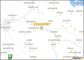 map of Es Skhinat
