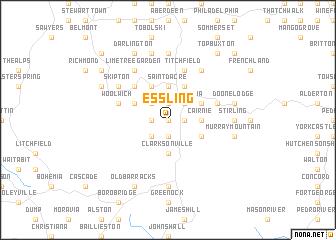 map of Essling