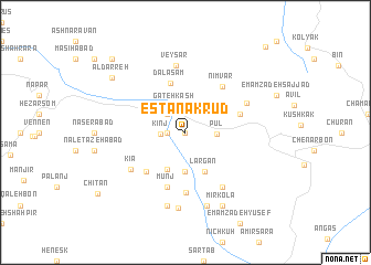 map of Estānak Rūd