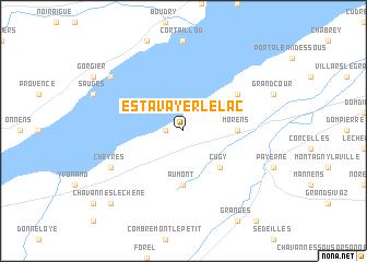map of Estavayer-le-Lac