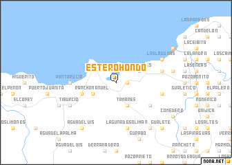map of Estero Hondo