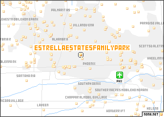 map of Estrella Estates Family Park