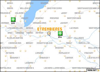 map of Étrembières
