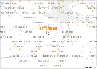 map of Ettingen