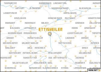 map of Ettisweiler