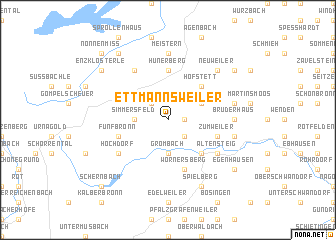 map of Ettmannsweiler
