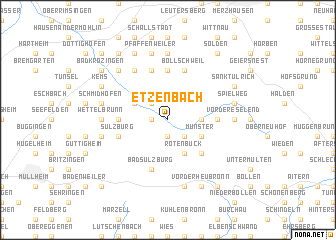map of Etzenbach