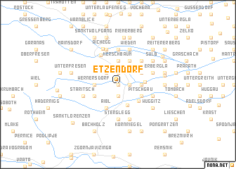 map of Etzendorf