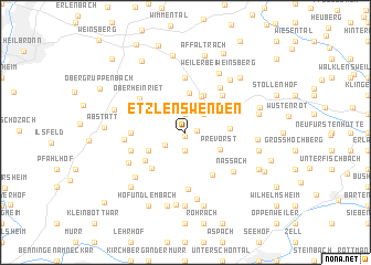 map of Etzlenswenden