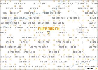 map of Euernbach