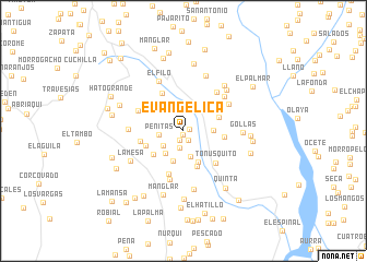 map of Evangelica