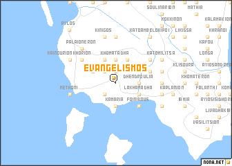 map of Evangelismós