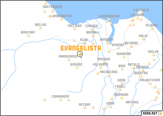 map of Evangelista
