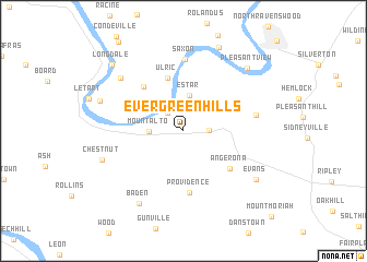 map of Evergreen Hills