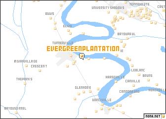 Evergreen Plantation United States USA map nonanet