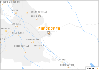 map of Evergreen