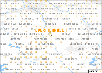 map of Everinghausen