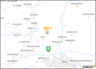map of Evlī