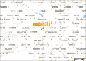 map of Ewighausen