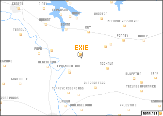 map of Exie