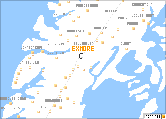 map of Exmore