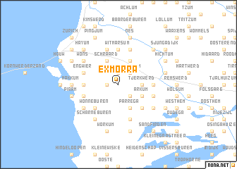 map of Exmorra