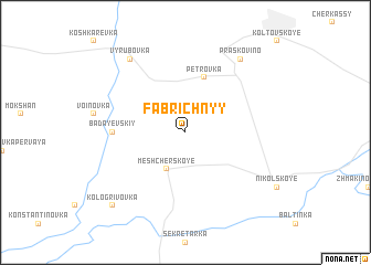 map of Fabrichnyy