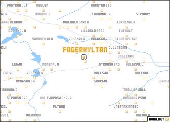 map of Fagerhyltan