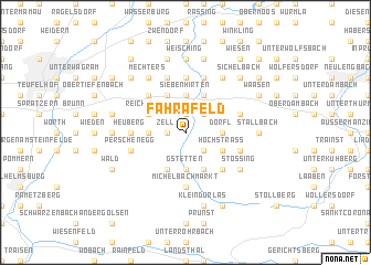 map of Fahrafeld