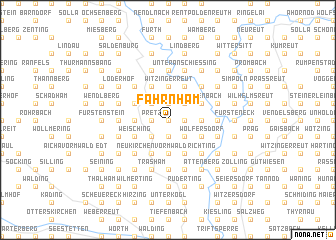 map of Fahrnham