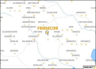 map of Faia de Cima