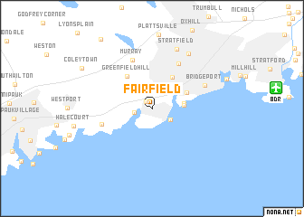 map of Fairfield