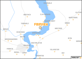 map of Fairview