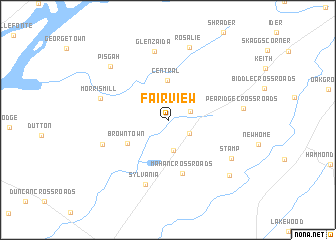map of Fair View