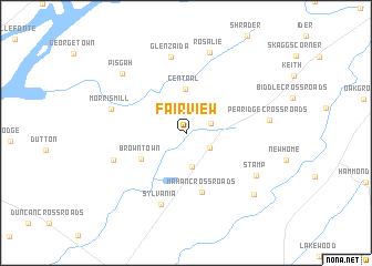 map of Fair View
