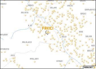 map of Fakići