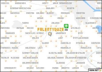 map of Falenty Duże