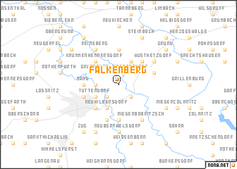 map of Falkenberg