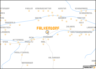 map of Falkendorf