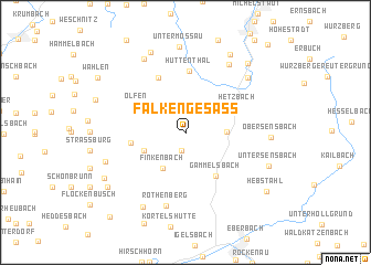 map of Falken-Gesäß