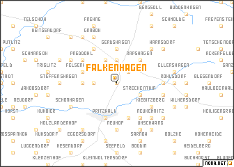 map of Falkenhagen